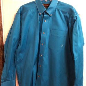 Blue Ariat button down shirt